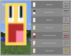 Top 10 Coolest Banners In Minecraft-Epic Face Banner Minecraft Building Guide, Minecraft Plans, Minecraft Room, Minecraft Tutorial, Minecraft Blueprints, Minecraft Crafts, Minecraft Furniture, Minecraft Banner Patterns, Funny Photos