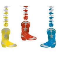 1022 - Country and Western Dangling Cutout Boots. Pack of 3 Dangling Cutout Western Boots - Foil - Pack of 3 Western Cowboy, Western Boots, Cutout Boots, Wholesale Party Supplies, Printed Balloons, Westerns, Country, Cowboys, Products