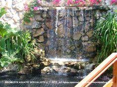 Rain curtain fountain diy for Koi pond builders cape town