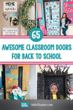 What better way to welcome your students than these ideas for bright classroom doors. (They make great bulletin boards, too!) #doordecortion #classroomdecor #backtoschool #classroom #classroomideas #teaching Middle School Ela, Middle School English, Back To School, Classroom Door, Classroom Design, Classroom Ideas, Kindergarten Door, School Doors, Teaching Art