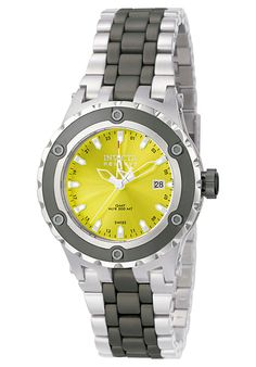 Price:$597.50 #watches Invicta F0012, With a bold design, this Invicta chronograph has a poised and calm ambience that's sure to have you looking twice.