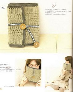 Crochet book covers  ♥LCM♥ with diagram