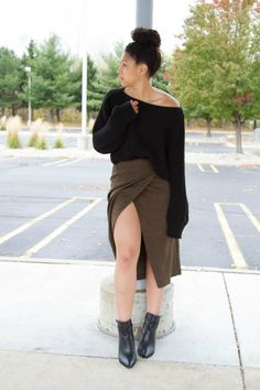 Styling a Skirt in Fall via Lil Miss JB Style