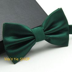 Men's Bow Ties 1pc Grid s Emerald Color Grooms Polyester Butterfly a wedding Party