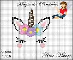 Discover recipes, home ideas, style inspiration and other ideas to try. Cross Stitch Horse, Unicorn Cross Stitch Pattern, Crochet Snowflake Pattern, Cat Cross Stitches, Cross Stitch For Kids, Cross Stitch Baby, Cross Stitching, Cross Stitch Embroidery, Cross Stitch Designs