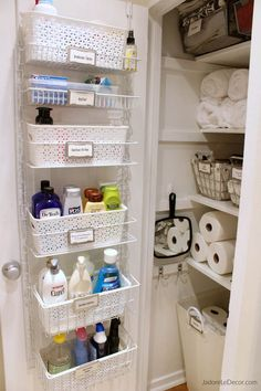 Nice Bathroom organization Design Ideas Bathroom storage is a location of the home we always need to service. After that you'll need to see these 30 bathroom storage ideas. Bathroom storage is a location of the home we always need to service. Under Kitchen Sink Organization, Bathroom Cabinet Organization, Linen Closet Organization, Small Bathroom Storage, Bathroom Organisation, Organization Hacks, Bathroom Ideas, Organize Bathroom Closet, Organized Bathroom