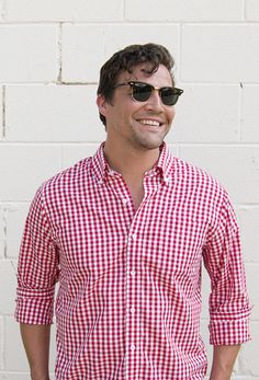 Red & White Gingham Shirt | Criquet Shirts | Made in the USA #fathersday