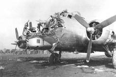 17 Images of Damaged B-17 Bombers That Miracilously Made It Home - http://www.warhistoryonline.com/military-vehicle-news/incredible-images-of-damaged-b-17-bombers-that-miracilously-made-it-home.html