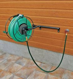 Hose Reel Schlauchabroller Garden Hose Trolley I//Stainless Steel//Silver