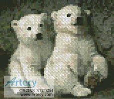 Mini Polar Bear Cub 2 Cross Stitch Pattern http://www.artecyshop.com/index.php?main_page=product_info&cPath=11_12&products_id=565