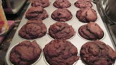 Chocolate Pumpkin Muffins. I have made these several times!! They are sooo delicious and it only takes 5 mins to prepare (& they are completely healthy--its a weight watchers recipe). All you need is 15oz can of pumpkin, chocolate cake mix, and 1/4cup water...mix together and cook for 20mins. so easy & so good! <3 (: the best part is you can't taste the pumpkin it tastes just like chocolate (: