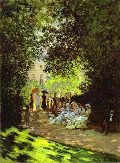 Monet, Claude - Monceau Park - Impressionism - Genre - Oil on canvas