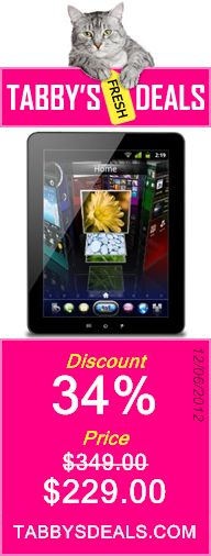 ViewSonic ViewPad E100_US1 9.7-Inch Android 4.0 Ice Cream Sandwich Tablet (Black) $229.00