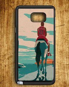 Jordan Riding Horse Michael Jordan Samsung Galaxy Note Edge Case