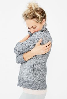 Shop the Rela xed Heather Turtleneck Sweatshirt at J.Crew Factory and find everyday deals on limited time New Balance Apparel. Yoga Fashion, Grey Fashion, Women's Fashion, Turtleneck Sweatshirt, Basic Outfits, Girl Outfits, T Shirts For Women, Clothes For Women, Dress With Bow