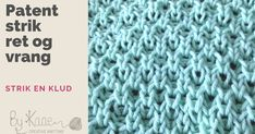Knitting By Kaae Knitting Stitches, Youtube, Baby, Ideas, Tejidos, Brioche, Tricot, Knit Stitches, Babys