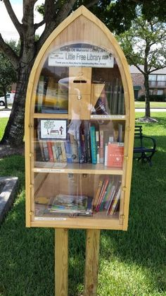 boat themed little lending library - Google Search