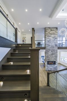 Kenya Moorecrest by Rinox - Fireplace Manufactured Stone, Luxury Vinyl, Vinyl Flooring, Urban Design, Kenya, Hardwood, Stairs, Home Decor, Natural Wood