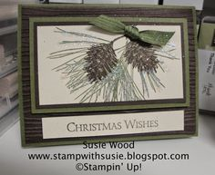 Stamp with Susie: 'Ornamental Pines'