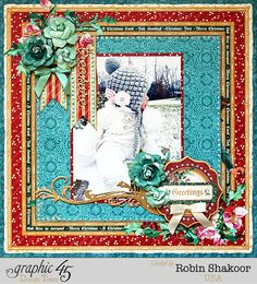 Designs by Robin: Graphci 45 Holiday Treasure Layout & Tutorial