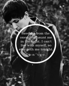 Don't go- BMTH. Last night was the first night in months I haven't been suicidal...