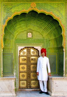 Green Gate with Royal Guard @ City Palace, Jaipur, Rajasthan, India by Jitendra Singh : Indian Travel Photographer, via Flickr
