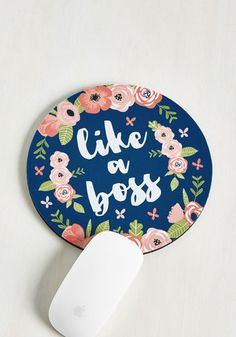 In the Key of Genius Mouse Pad - Novelty Print, Print, Good, Blue, Multi, Work, Dorm Decor, Sayings, Green, Pink, Floral, Statement, Gals, Under $20