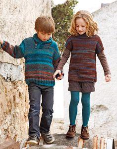 Revista Niños 67 Otoño / Invierno | 7: Niños Jersey | Azul-Marrón