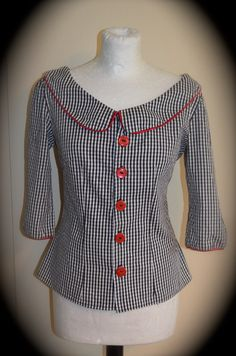 1950's blouse/top with Peter Pan collar by Swellrenditions on Etsy