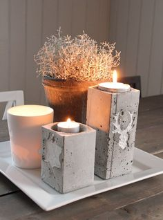 Concrete candle holder, Frk Elton: Betong DIY