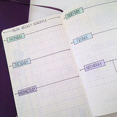 Blog schedule.
