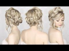 EASIEST Updo ever! Super simple & perfect for long, medium & shoulder length hair - YouTube