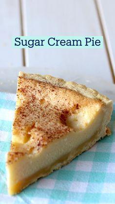 Sugar Cream Pie Recipe, Cream Pie Recipes, Sugar Pie, Sugar Sugar, Fun Baking Recipes, Dessert Recipes, Cooking Recipes, Fun Cooking, Baking Ideas