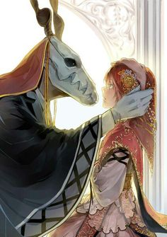The Ancient Magus' Bride Chise Hatori and Elias Ainsworth. Manga Anime, Fanarts Anime, Anime Characters, Digimon, Manga Romance, Elias Ainsworth, Chise Hatori, Tamako Love Story, The Ancient Magus Bride