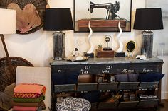 industry home. / sfgirlbybay  neutrals with pop of color lots of black #retaildisplay