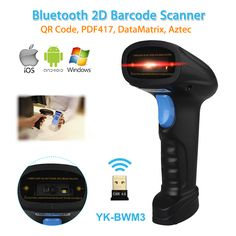 YK-BWM3 Portable Wireless 2D Barcode Scanner Bluetooth Android IOS Mobile Phone Windows Compatible 2D Scanner Wireless Handheld
