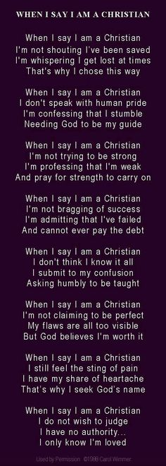 I am a Christian, not perfect