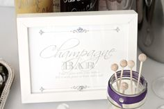 Champagne Bridal Shower - Champagne Bar by PartiesforPennies.com