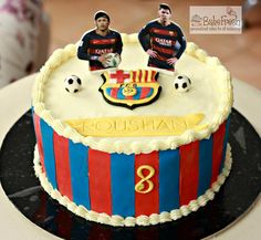 FCB theme cake with buttercream and fondant accents - chocolate heaven