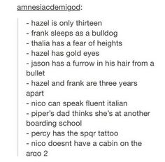 I remembered all if these except for Frank sleeping as a bulldog and the bullet cut in Jason's hair