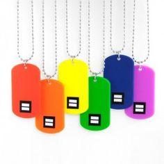 Rainbow Dog Tag