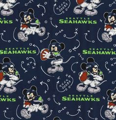 NFL Kansas City Chiefs Disney Mickey Mouse Fabric Football Quilt Shop Quality