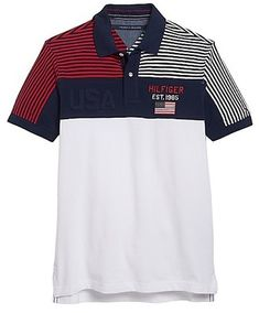 ShopStyle: Tommy Hilfiger Men's Usa Pieced Polo