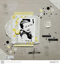 I like the layers and diagonal feel-Marinette on www.scrapbook.com