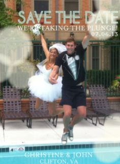 """50 """"Save the Date""""Photo Ideas Because Zach and I are goofballs"""
