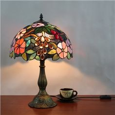 Tiffany Table Lamp  Floral Bronze Finish  ( 0923-TF6 )