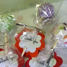 Cake pop Favors  Custom Confections  Based in San Jose, California   'Like' us on Facebook :)