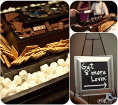 A reception with a DIY s'mores bar is sure to please | Aves Photographic Design