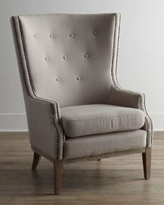 Natalia Chair at Horchow. This is a great chair and just dropped from $900 to $524 - kind of a modified wing chair for Brady??