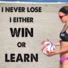 Losing is important to learn. Winners are just people who have lost enough to learn. You shouldn't let your losses defeat you but you should be grateful for what you've learned from them.